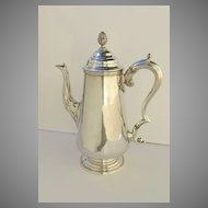 Waterhouse, Hatfield & Co. Sheffield Silver Plate Coffee Pot c 1840