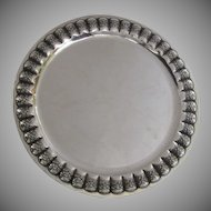 "Very Large Mexican Silver Tray 20"" Reau 925"