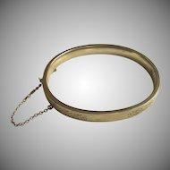 Gold Filled Vintage Bangle Bracelet Bright Cut