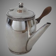 Old Sheffield Silver Plate 19th Century Chocolate Argyle Angle Handled Pot