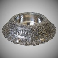 Vintage Large Repousse Fold Over Silver Plated Centerpiece Dutch Scenes by E. G. Webster & Son