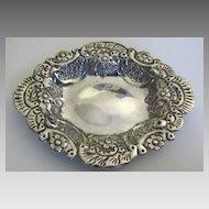 Vintage Silver Repousse Hallmarks Egypt Dish