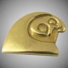 Eagle Head Inuit Totem 18K Gold Pendant Charm Northwest Coast