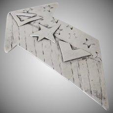 Vintage Sterling Silver Star Arrow Pin Brooch