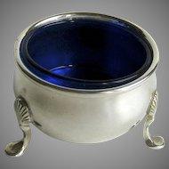 Vintage Prill Open Salt Colbalt Liner Sterling