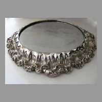 Very Large Rococo Silver Plate Plateau