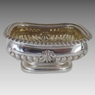 English Sterling Silver Master Salt Footed Gilt Interior c 1800 S.2099