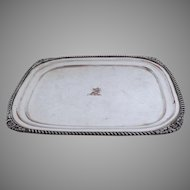 Late 19th Early 20th Century silver on copper Sheffield Small Rectangular Salver Tray