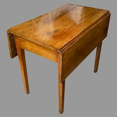 19th Century Country Drop Leaf Table Side Beautiful Patination