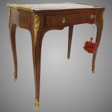 French Louise XV Style Kingwood Small Writing Desk B. Altman Side Table