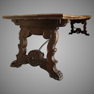 Wonderful Large Long 19th Century Standard End Country Table