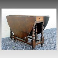 English Oak Gateleg Table c 1700