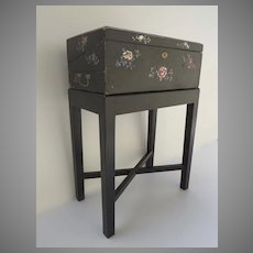 Chinese Lacquered Box with Mother of Pearl Inlay