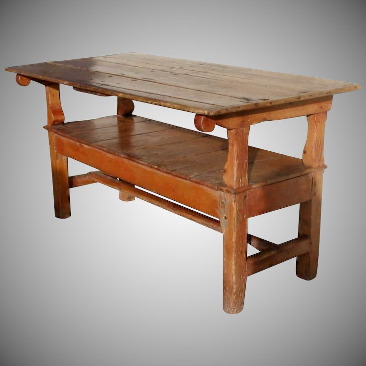 English Pine Metamorphic Table Bench with Lift Top : Black Tulip ...
