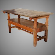 English Pine Metamorphic Table Bench with Lift Top