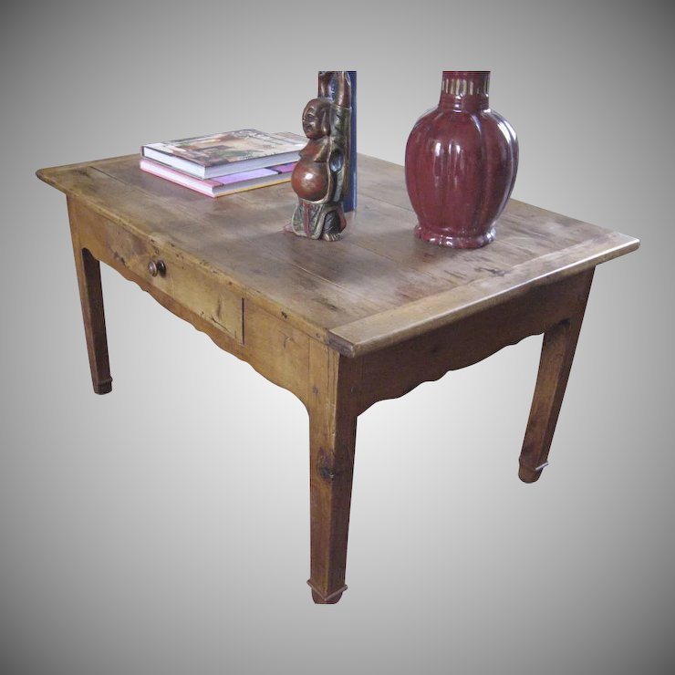 19th Century French Fruitwood Coffee Table