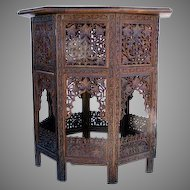 Carved Shesham Wood Table from India