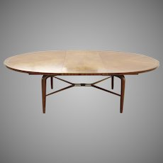 Walnut Dining Table by Maurice Bailey for Monteverdi Young One Leaf Expands Mid Century 1956