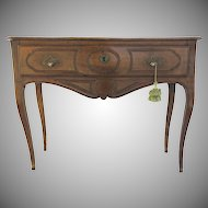 French Walnut One Drawer Table or Small Sideboard