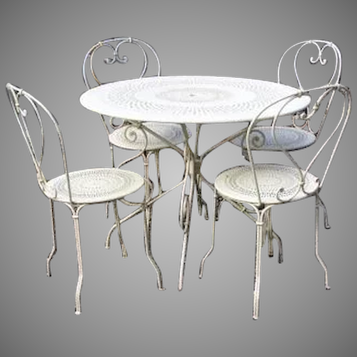 Fantastic Vintage Bistro Table Chairs By Fermob France 1900 Download Free Architecture Designs Intelgarnamadebymaigaardcom