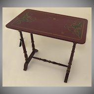 Red Chinoiserie Decorated Side Table