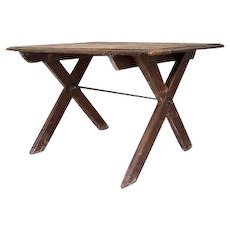 Country Rustic French x Based Table
