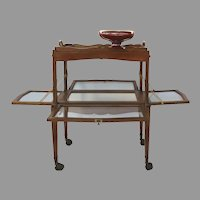 French Dessert Table Stand Cart Trolly Trolley with Removable Tray