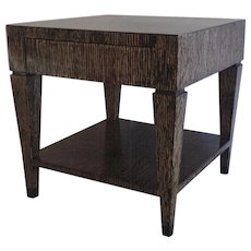 Hammered Bamboo One Drawer Side Table