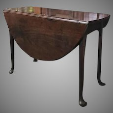English Mahogany Queen Anne Pad Foot Table 18th Century