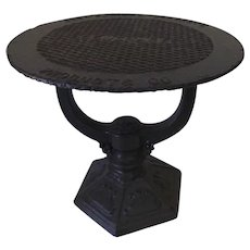 Cast Iron Sewer Cover Table Industrial Garden
