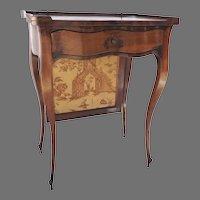 19th Century French Walnut Small Screen Table Cabriole Leg