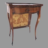 19th Century French Walnut Small Screen Table Cabriole Leg