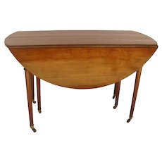 French Farmhouse Expanding Table Cherry Wood Dropleaf with Two Leaves