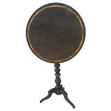 English Painted Gilt Tilt Top Table c 1860