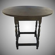 American Oval Tavern Table with Stretcher Base