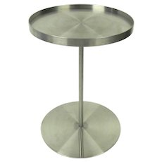 "Vintage Brushed Stainess Steel Side Table by Gary Hutton ""Martini Table"""