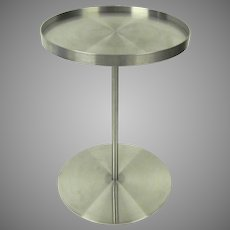 """Vintage Brushed Stainess Steel Side Table by Gary Hutton """"Martini Table"""""""