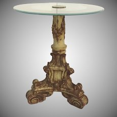 French Carved Pedestal for Table Lamp