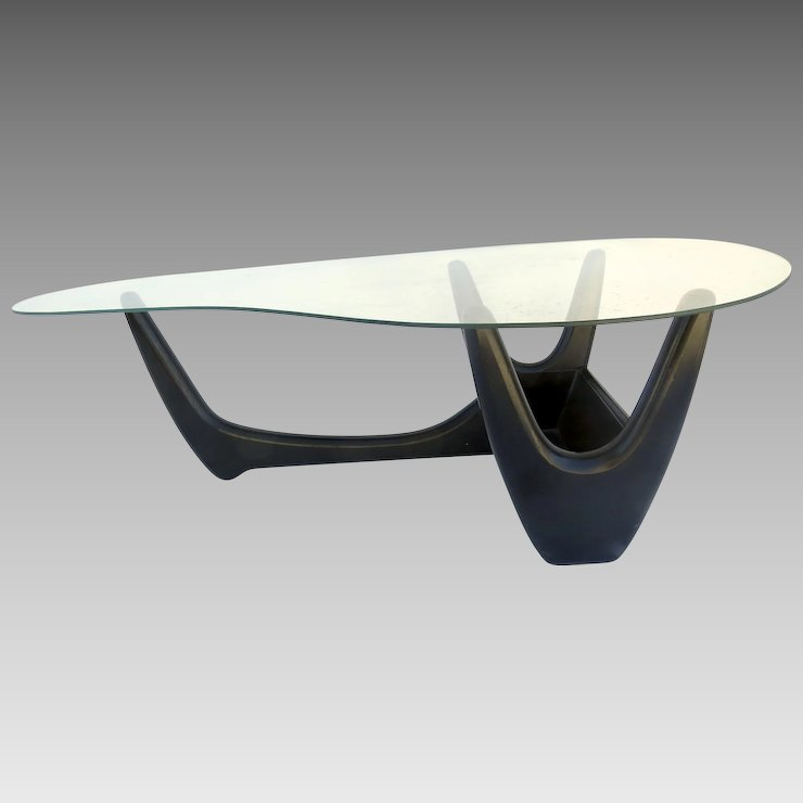 Vintage Mid Century Modern Coffee Table Kroehler Atomic Adrian Pearsall  Planter