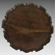 English Mahogany Small Pie Crust Table c 1790 Great Color Old Finish