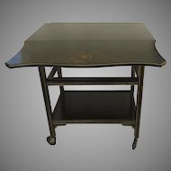 Vintage Painted Tea Cart Trolly Removable Tray Castors Side Table