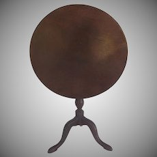19th Century English Miniature Mahogany Pedestal Tilt Top Table