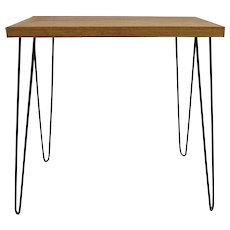 Vintage Mid Century Narrow Entrance Console Table Hairpin Legs