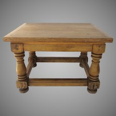 Small Country Side Table Baluster Legs