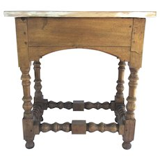 Early Oak Table with Later Painted Top