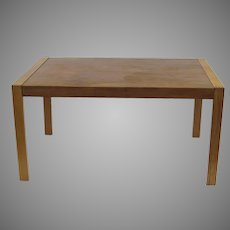 Gudme Danish Table Expandable One Leaf Teak Mid Century Dining Desk