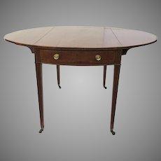 18th Century Plum Pudding Mahogany Pembroke Table