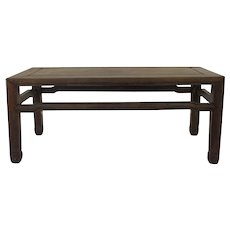 19th Century Chinese Rosewood Low Table Mitered Top