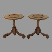 Pair of Marquetry Side Tables 19th Century with Alterations