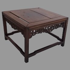 19th Century Chinese Rosewood Hardwood Low Small Table Stand